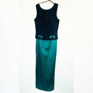 Jessica McClintock Sheath Dress Green Velvet 8